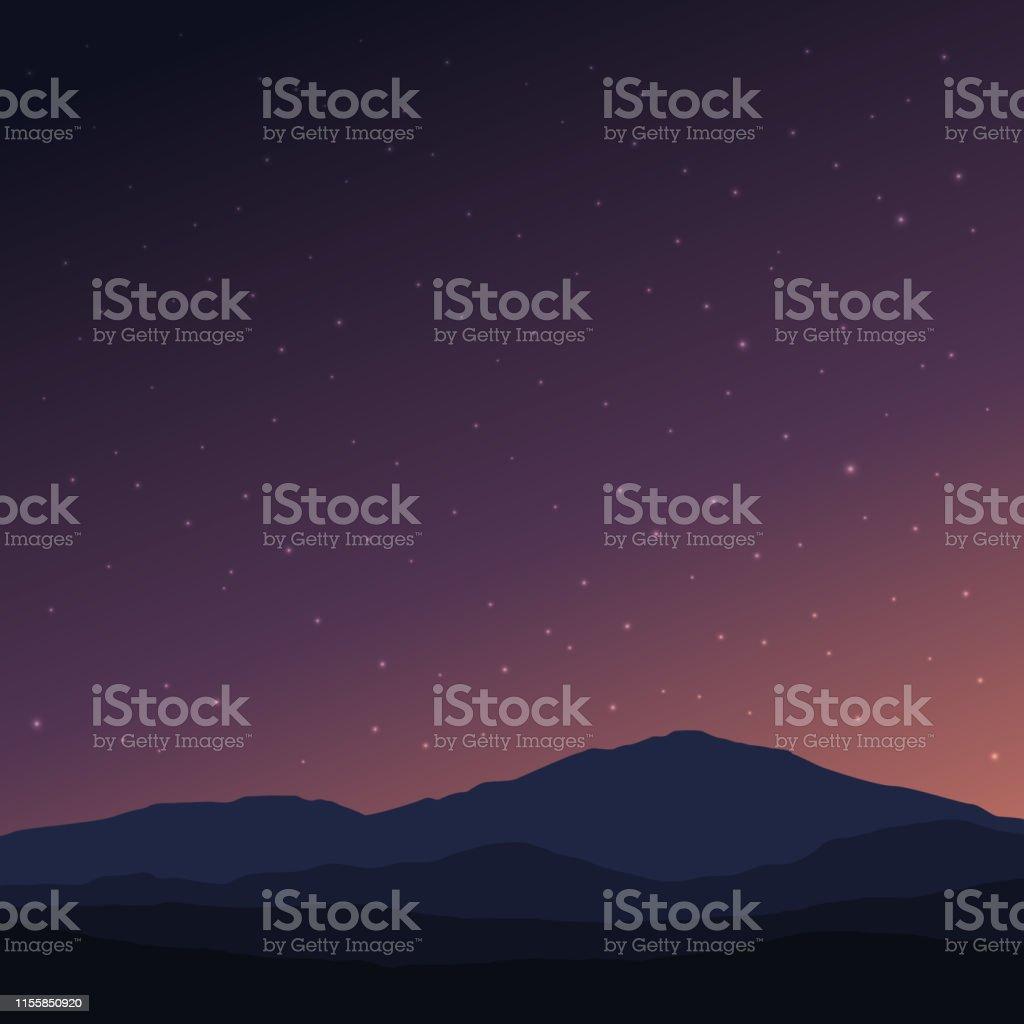 夜空の背景の壁紙デザイン からっぽのベクターアート素材や画像を