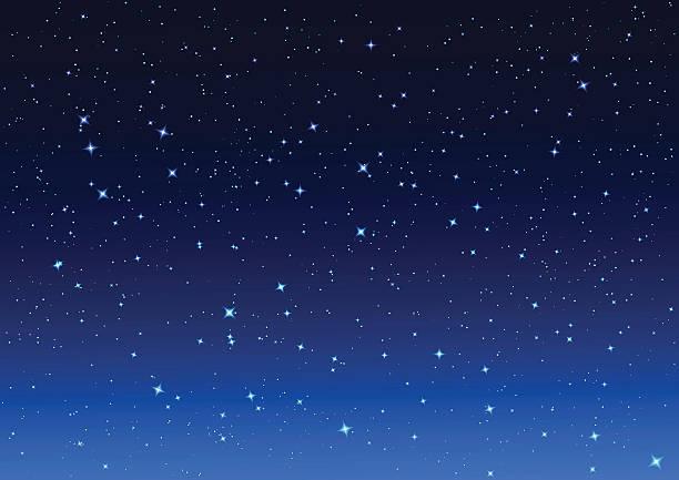 illustrations, cliparts, dessins animés et icônes de nuit ciel. étoiles dans le ciel nocturne - forme étoilée