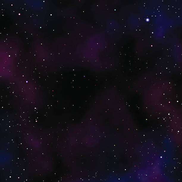 night sky with stars and clouds - copy space stock illustrations, clip art, cartoons, & icons