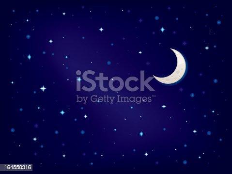 Stellar sky vector illustration.