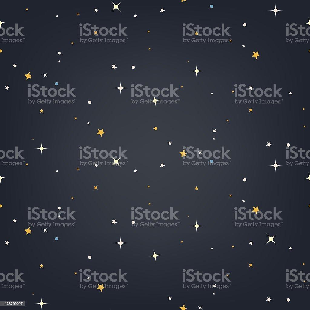 Night sky with stars seamless vector pattern vector art illustration