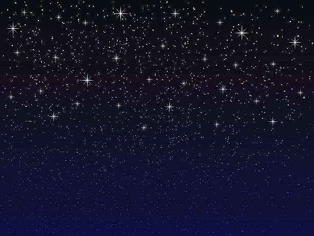 illustrations, cliparts, dessins animés et icônes de ciel de nuit avec les étoiles  - forme étoilée