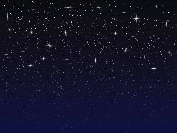 night sky with stars - skies stock illustrations, clip art, cartoons, & icons