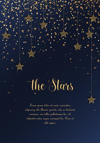 Ночное Небо Со Звездами — стоковая векторная графика и другие изображения на тему Абстрактный
