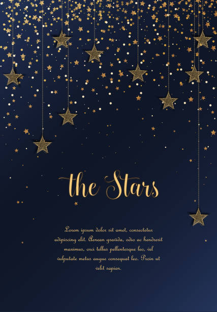 illustrazioni stock, clip art, cartoni animati e icone di tendenza di night sky with stars - stelle