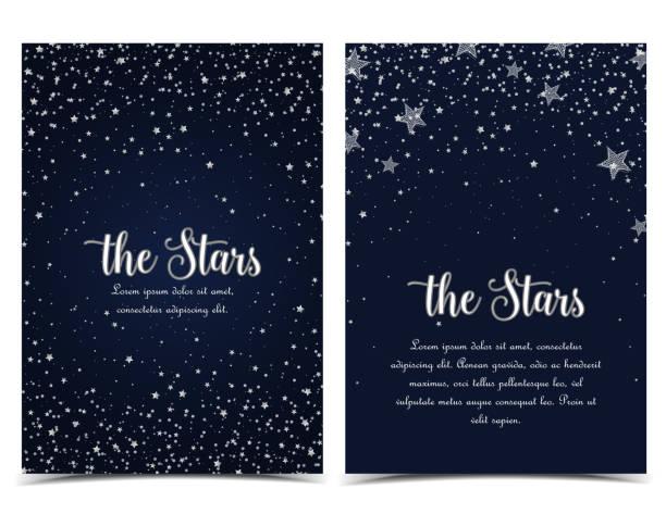 night sky with stars - night sky stock illustrations, clip art, cartoons, & icons