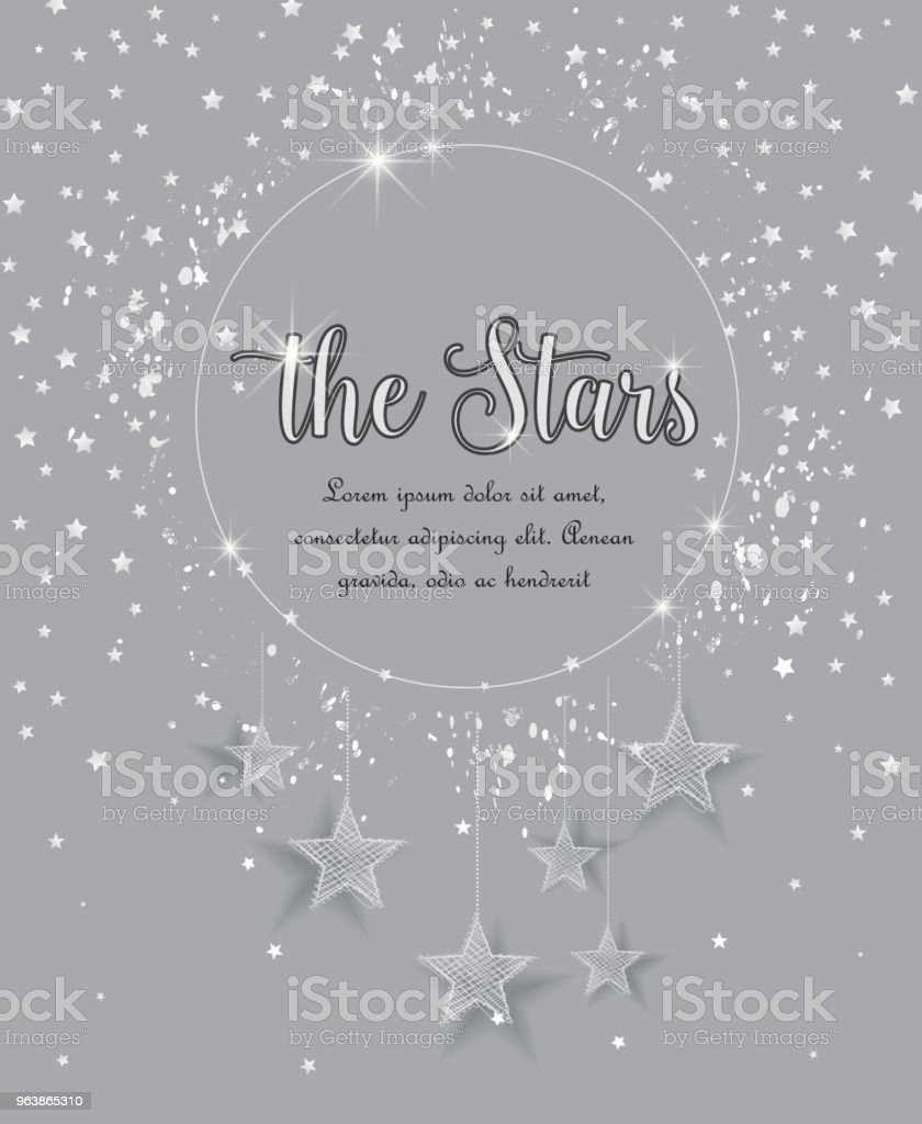Night sky with stars - Royalty-free Abstract stock vector