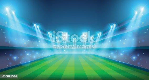 Estádio ilustração noite