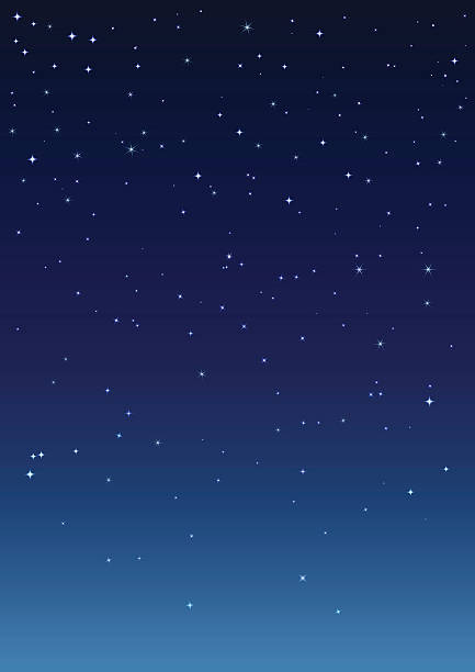 night starry sky. vertical background - космос и астрономия stock illustrations