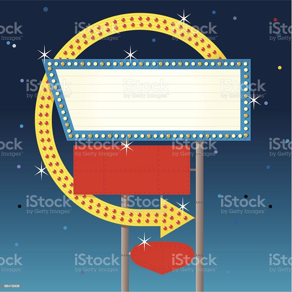 Night time Arrow Sign royalty-free night time arrow sign stock vector art & more images of absence