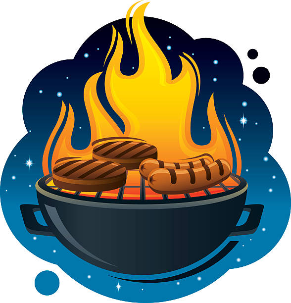 Royalty Free Night Bbq Clip Art, Vector Images ...