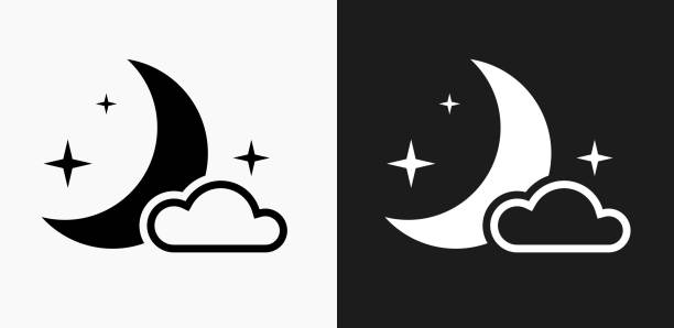 Best Black And White Moon Illustrations, Royalty-Free ...