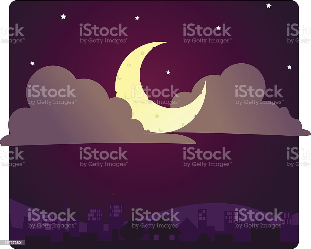Night royalty-free night stock vector art & more images of aerial view
