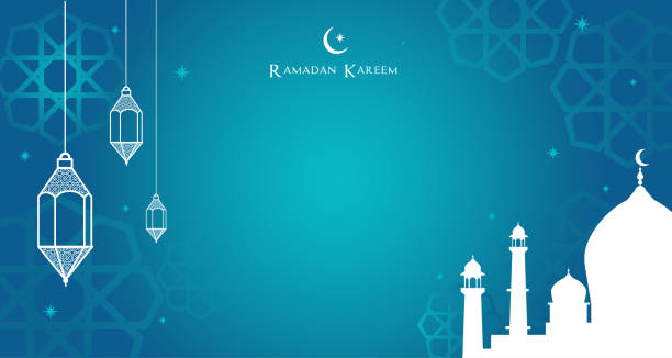 Night view of the Arabic lantern and mosque, Ramadan Kareem background Vector illustration. Night view of the Arabic lantern and mosque, Ramadan Kareem background Vector illustration. ramadan stock illustrations