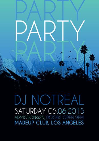 Nightclub party poster
