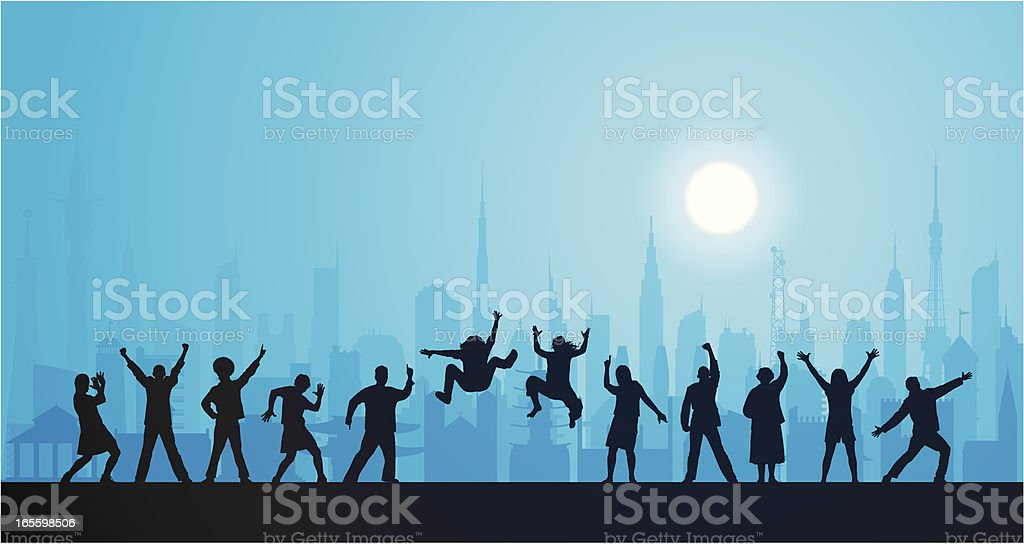 Nightlife in the City royalty-free stock vector art