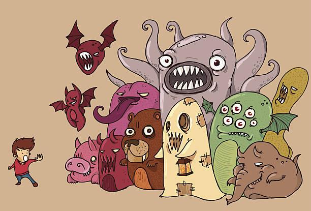 nightmares - 漫画のモンスター点のイラスト素材/クリップアート素材/マンガ素材/アイコン素材