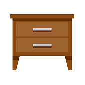 istock Nightstand Icon on Transparent Background 1283936404
