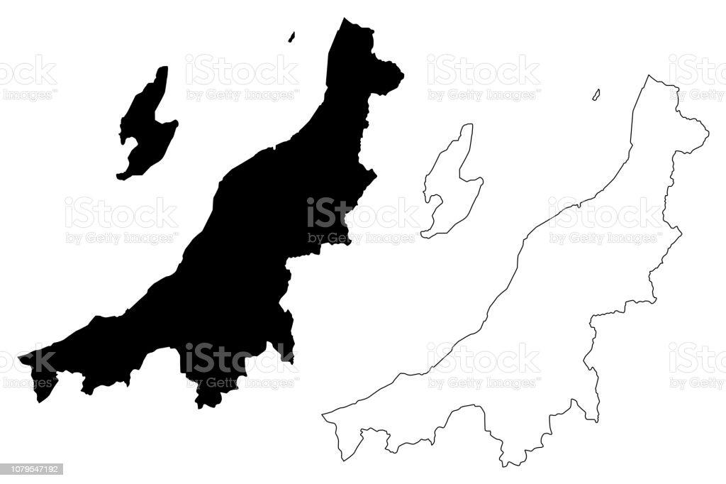 新潟県地図ベクトル アイコンのベクターアート素材や画像を