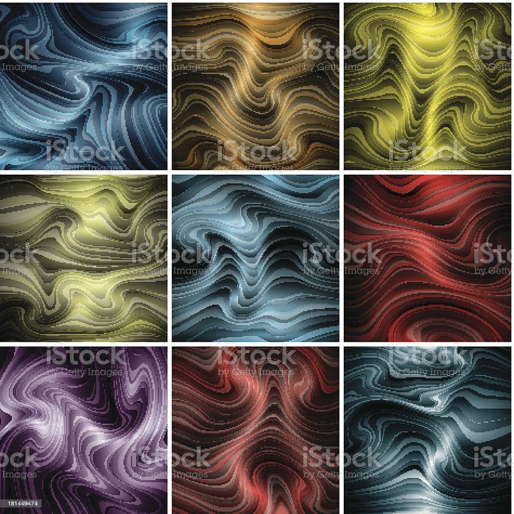 nine abstract backgrounds royalty-free stock vector art