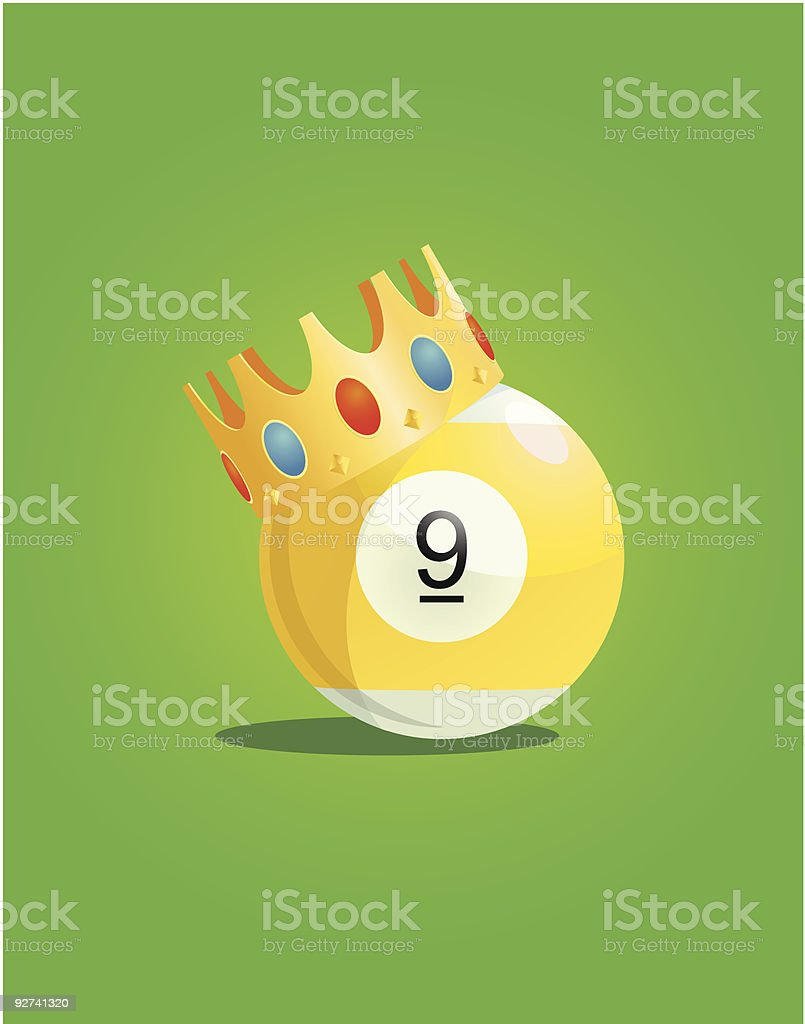 Neun Ball mit King-Size-Bett Lizenzfreies neun ball mit kingsizebett stock vektor art und mehr bilder von autorität