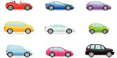 Cars color icons.