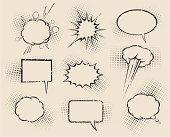 Old Comic Speech Bubbles