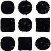 Vector shapes of grunge stamps or seals