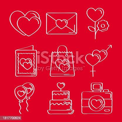 istock nine love doodles icons 1317700524