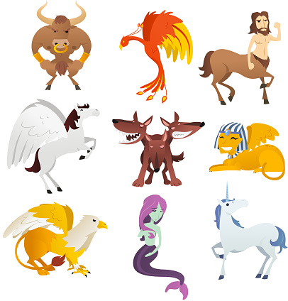 Nine Mythological and mythical Creatures