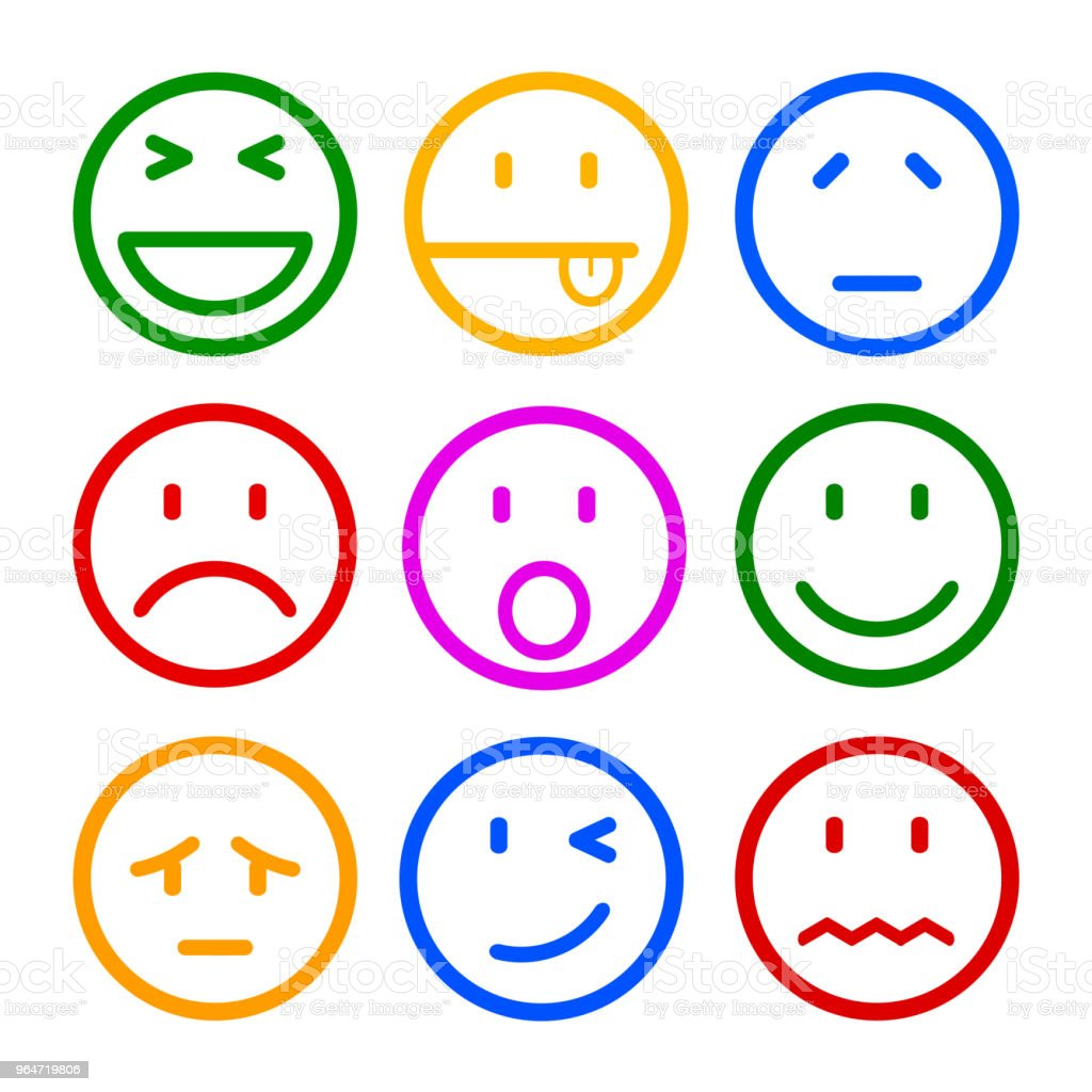 Nine smilies, set smiley emotion, by smilies, cartoon emoticons - vector royalty-free nine smilies set smiley emotion by smilies cartoon emoticons vector stock vector art & more images of advertisement