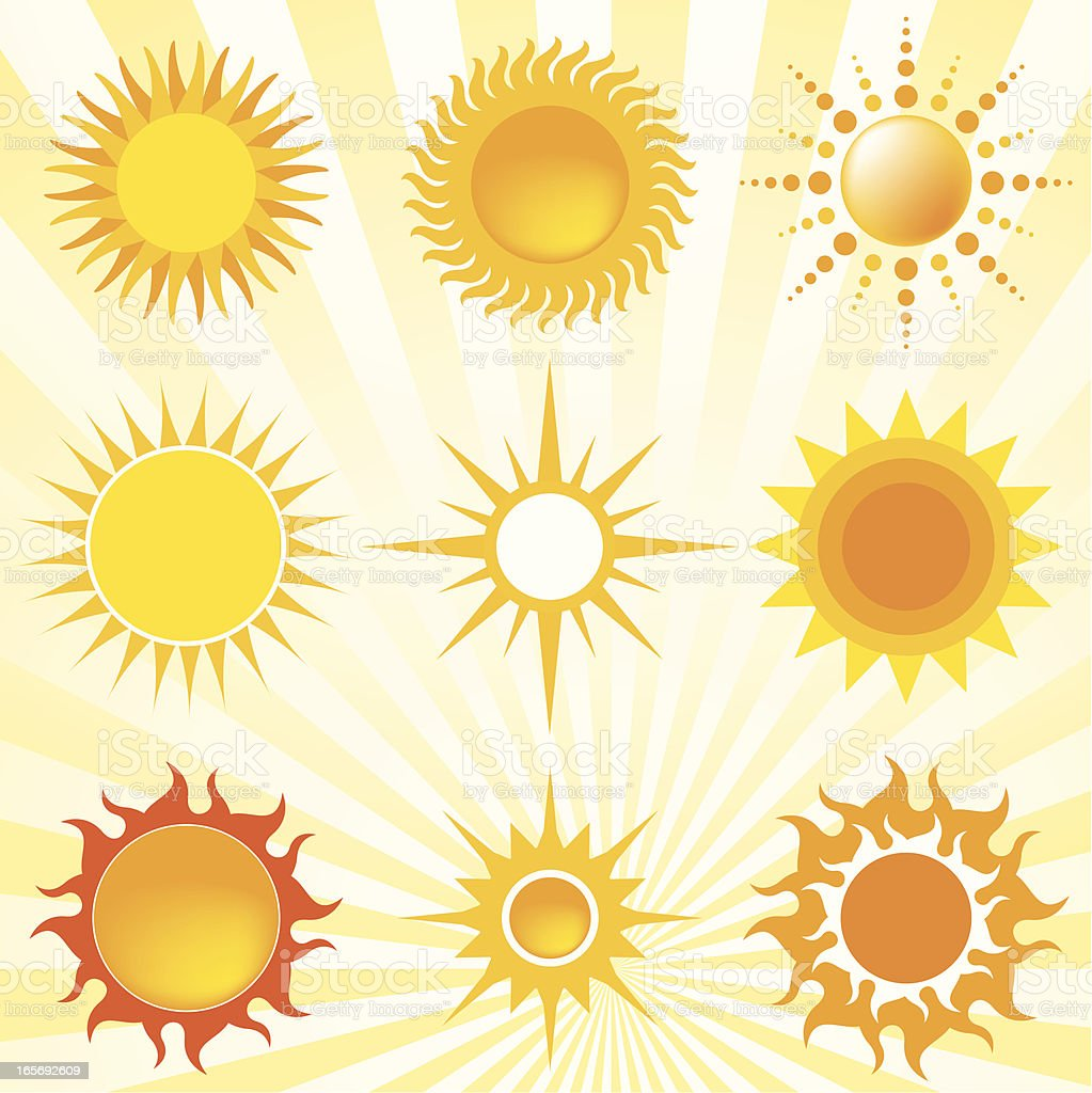 nine suns royalty-free nine suns stock vector art & more images of fire - natural phenomenon