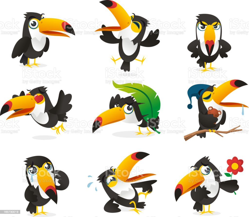 Nine Tucan Icon Set royalty-free nine tucan icon set stock vector art & more images of animal