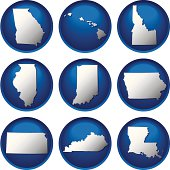 Nine United States Buttons
