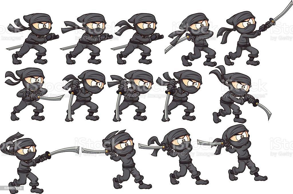 Ninja Attack Stock Vector Art & More Images of 2015