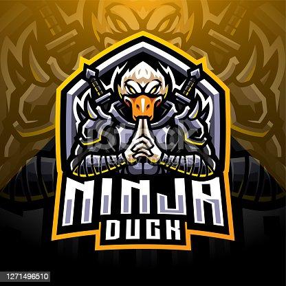 Illustration of Ninja duck esport mascot