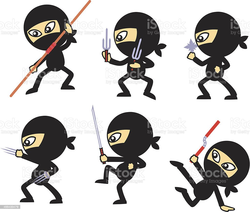 Ninja Guys royalty-free stock vector art