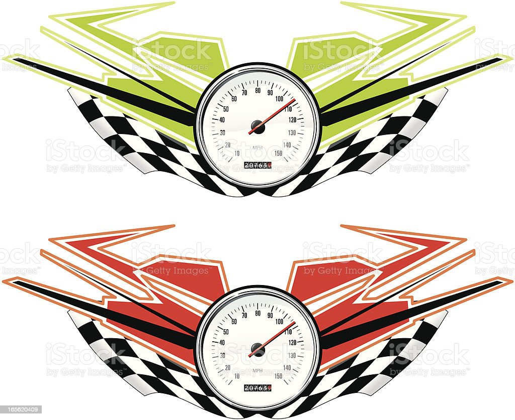 ninja racing royalty-free stock vector art