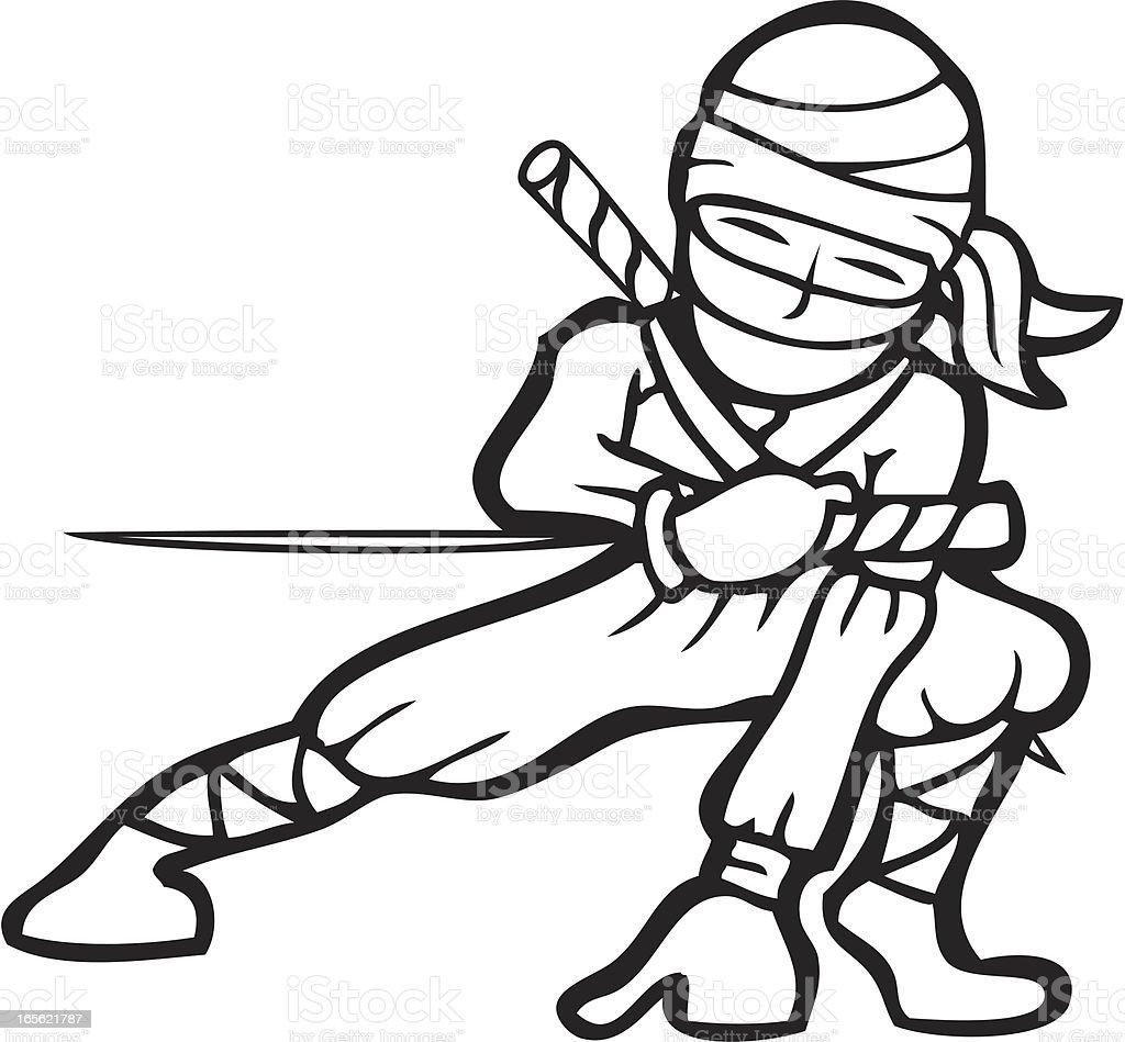 Line Art Ninja : Ninja short sword line art stock vector istock
