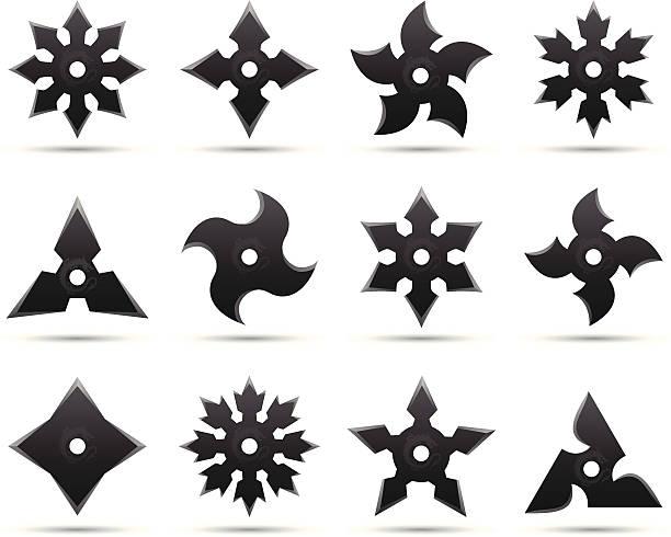 Best Ninja Star Illustrations, Royalty-Free Vector ...