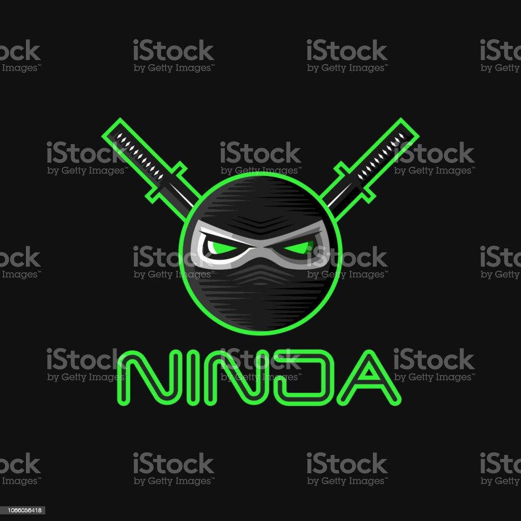Ninja Superhelden Maske Logo Für Ein Sportteammaskottchen