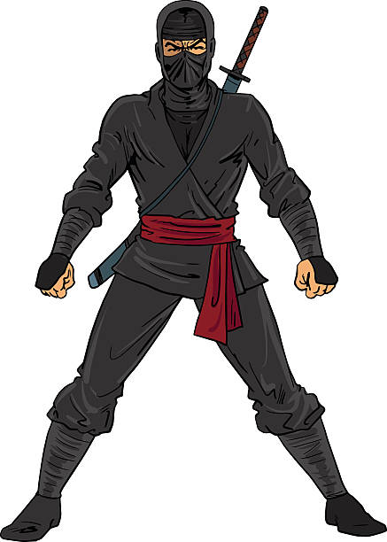 46 Silhouette Of The How To Draw A Ninja Warrior Illustrations Royalty Free Vector Graphics Clip Art Istock