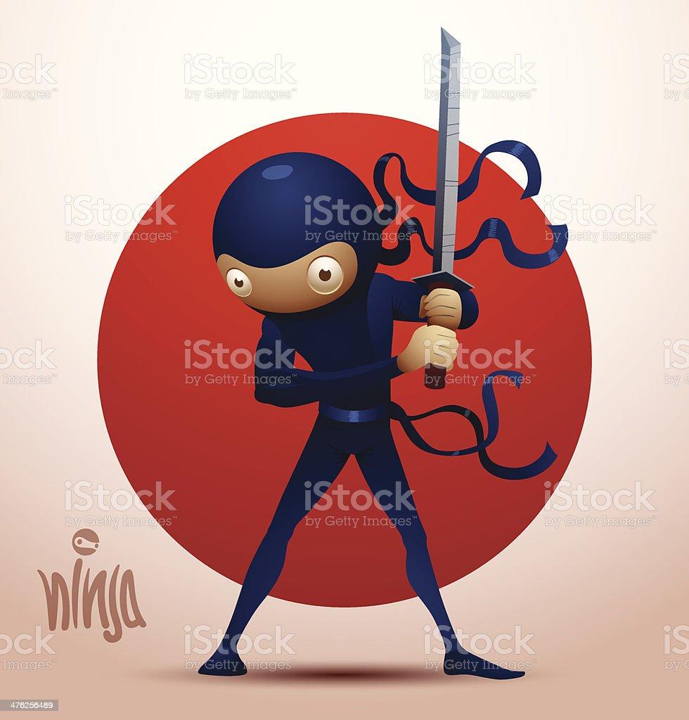 Ninja warrior with sword royalty-free ninja warrior with sword stock vector art & more images of activity
