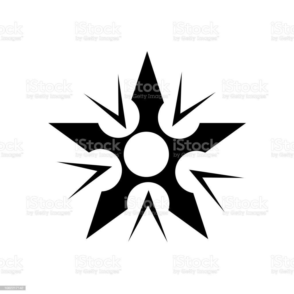 Ninja Weapon Icon Vector Sign And Symbol Isolated On White