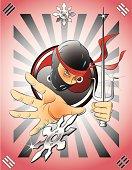 Ninja with Sai and Shuriken