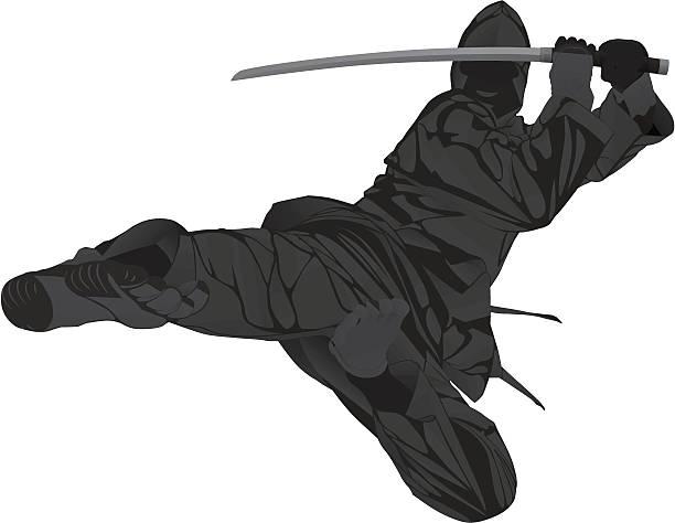 Ninjitsu vector art illustration