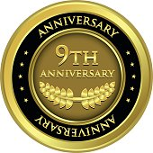 Ninth Anniversary Gold Medal