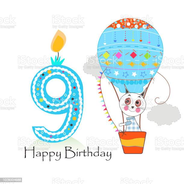 Ninth birthday with hot air balloon and cute cats happy birthday vector id1028334688?b=1&k=6&m=1028334688&s=612x612&h=qee8netqgmrhjj4 sg sae2c04l fy sxunr1mlxmok=