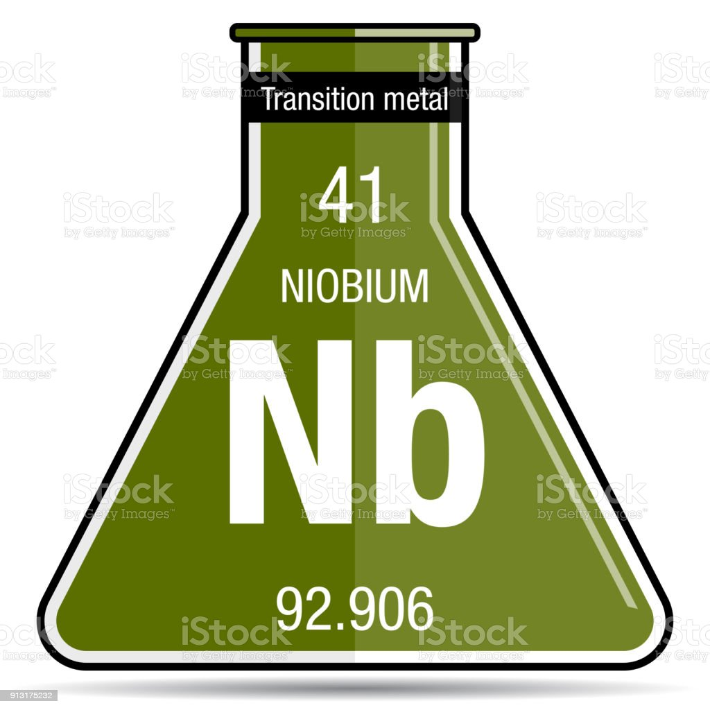 Niobium symbol on chemical flask element number 41 of the periodic niobium symbol on chemical flask element number 41 of the periodic table of the elements urtaz Images