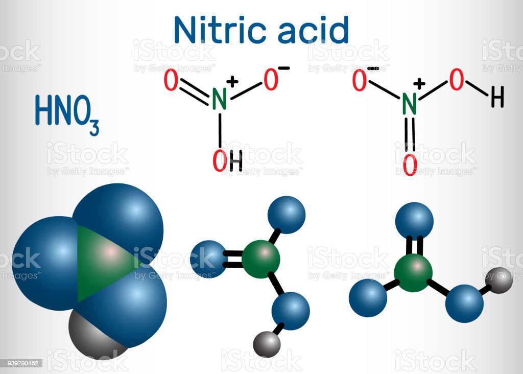 Nitric Acid Molecule It Is A Highly Corrosive Mineral Acid